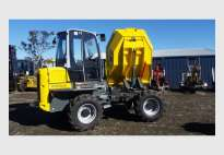 6 tonne Dumper with aircon cab and swivel bin