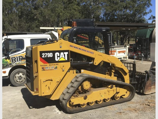 85HP Cat 279D Posi-Track w/Forestry Mulcher for hire in