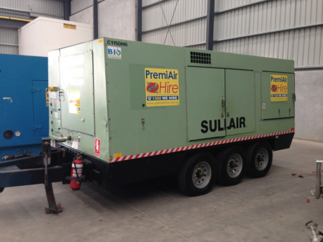 sullair compressor 900 1150 high pressure combo for hire in deer rh dryhireonline com au