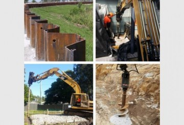Screw Timber Sheet Piling | Bored Piers | CFA | Rock Sawing
