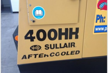 Sullair 400 CFM @ 200 PSI After Cooled Portable Compressor