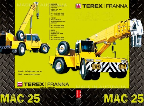 25t Terex Franna Crane 1
