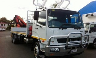 2WD 9 Tonne Single Cab Tray Tuck with Crane rear mounted 1