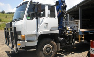 Body Truck with forward mounted crane 1