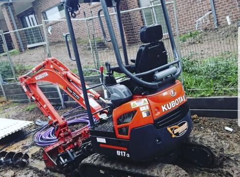 1.7T Kubota U17 Zero Turn Excavator 2