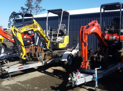 1.7T Yanmar Excavator with trailer package 1