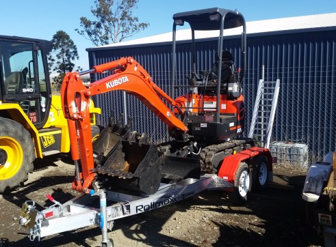 1.7T Yanmar Excavator with trailer package 2