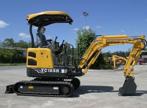 1.8ton Zero Swing Excavator Yuchai YC18SR 2