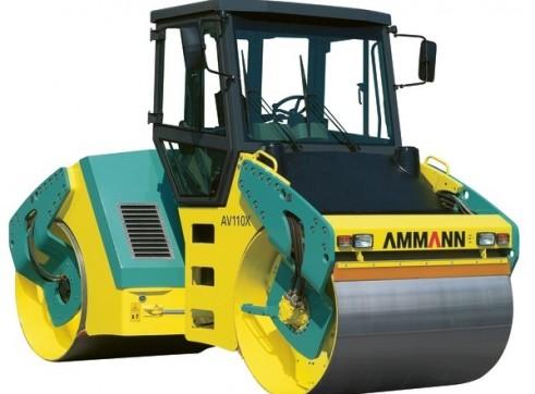 10.4T Ammann AV 110 X Tier 3 Articulated Tandem Roller 1