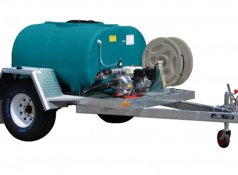 1000L water trailer w/ hose reel & dust suppression sprayer 2