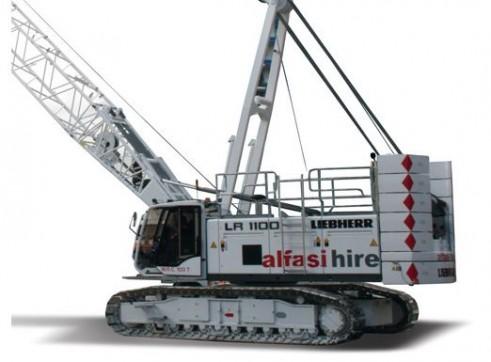 100T Liebherr LR1100 Crawler Crane 1
