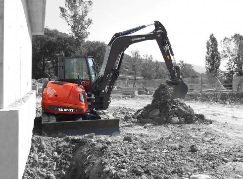 9T Eurocomach ES85ZT Mini Excavator 4