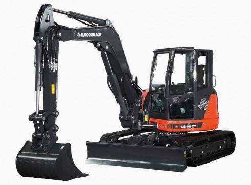 9T Eurocomach ES85ZT Mini Excavator 1