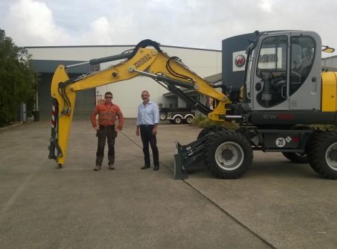 10T Wacker Neuson EW100 Wheeled Excavator 4