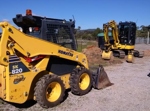 11T Bogie Tipper, Skid steer and Excavator combo hire 2