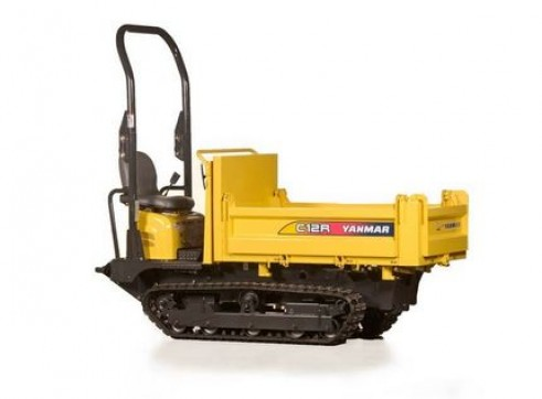 1200KG TIGHT ACCESS TRACKED MINI DUMPER WITH TRAILER 1
