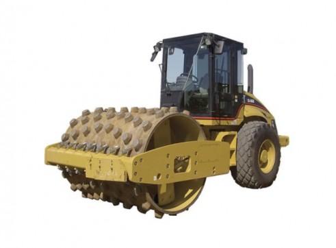 12T Caterpillar Padfoot Single Drum Roller 1