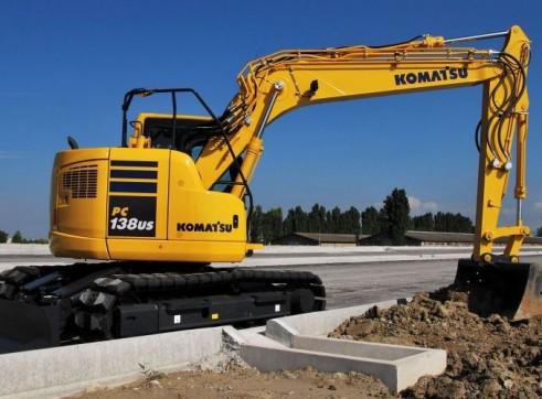 13T Komatsu PC138US Zero Swing Excavator