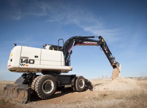 15.7T Hidromek HMK 140 W Wheeled Excavator