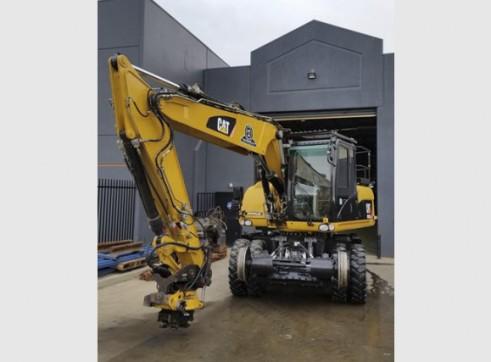 16T Caterpillar Wheeled Hi-Rail Excavator 5