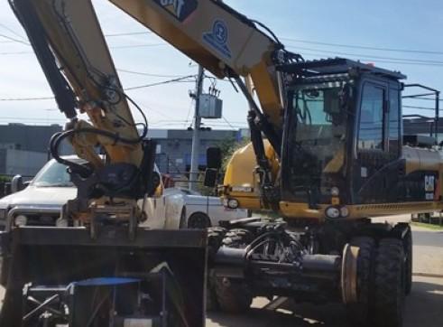16T Caterpillar Wheeled Hi-Rail Excavator 7