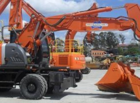19T Wheeled  Hitachi ZX190W-3 Excavators 1