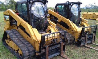 2 x 85HP Caterpillar 279D Posi-Track Loaders - 5 tonne 1