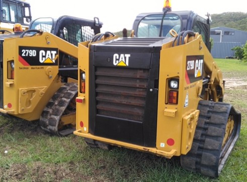 2 x 85HP Caterpillar 279D Posi-Track Loaders - 5 tonne 2