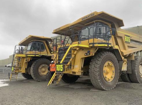 2 x Komatsu 785 Dump Trucks 1