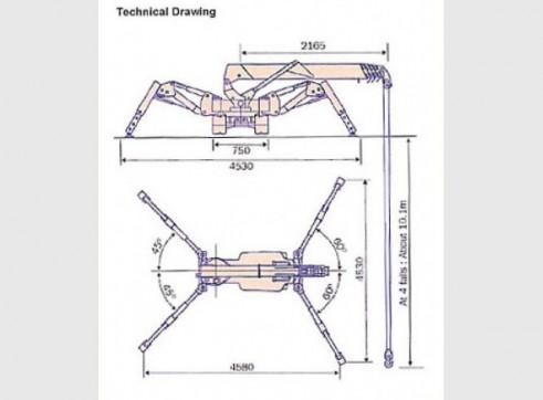 2.82 T Meada Crawler Crane 3