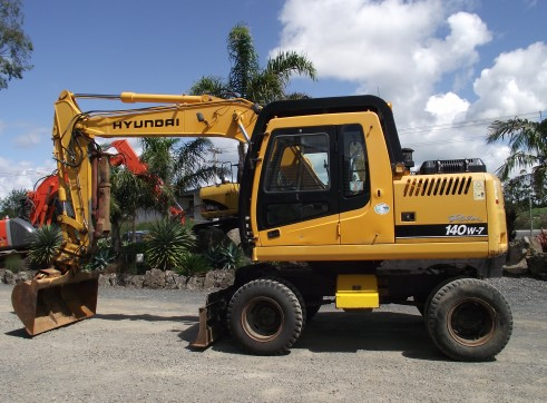2007 14t HYUNDAI R140W-7 Wheeled Excavator 1