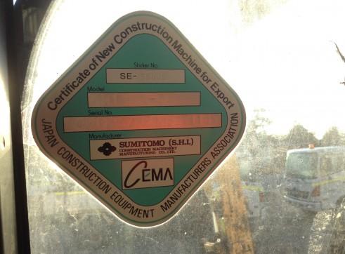 2008 13T Sumitomo Excavator SH135X-3B 6