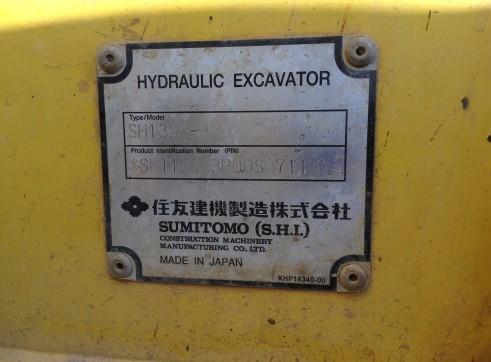 2008 13T Sumitomo Excavator SH135X-3B 7