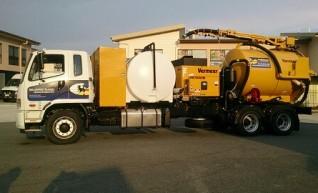 2013 7500 l Vermeer Vac truck on Fuso Fighter 6x4 1