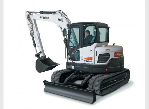 2013 Bobcat E80 8t Excavator zero swing
