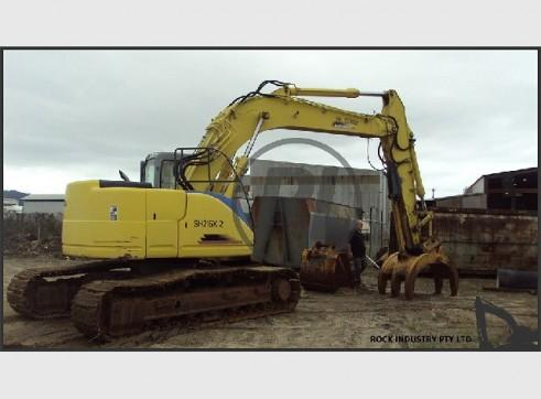 21T Sumitomo SH-215X2 Near Zero Swing Excavator w/buckets, shears, grab etc 1