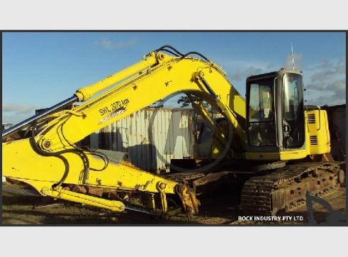21T Sumitomo SH-215X2 Near Zero Swing Excavator w/buckets, shears, grab etc 2