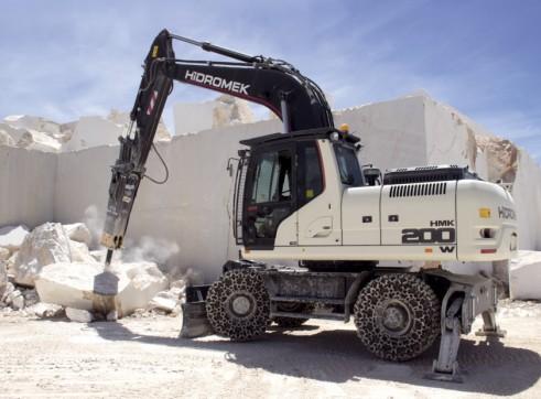 22T Hidromek HMK 200 W Wheeled Excavator 4