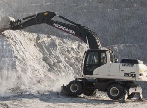 22T Hidromek HMK 200 W Wheeled Excavator 3