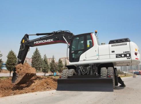 22T Hidromek HMK 200 W Wheeled Excavator 2