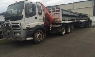 22T Prime Mover Crane Truck w/45FT Extendable Trailer 1