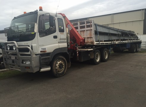 22T Prime Mover Crane Truck w/45FT Extendable Trailer 1