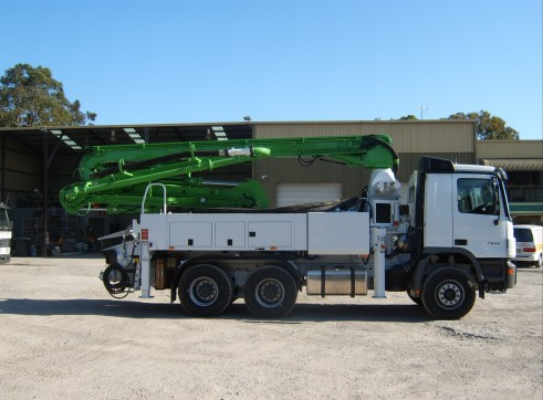 24m Truck Mounted Concrete Pump with 4 Section ... 2