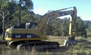 24T Caterpillar 324DL Excavator w/mulching head 1