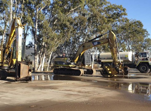 24T Caterpillar 324DL Excavator w/mulching head 2