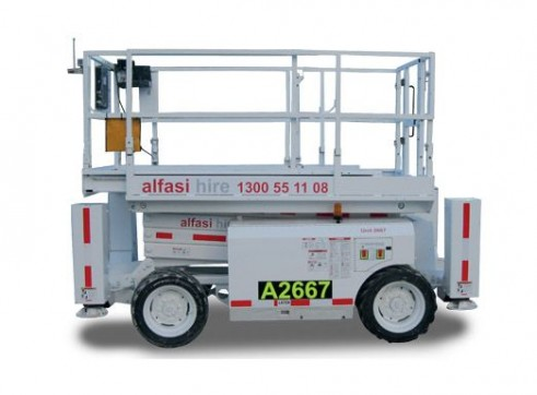 26 Diesel Rough Terrain Scissor Lift 1