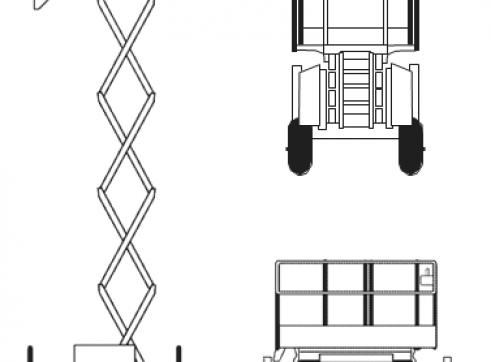 26' Diesel Scissor Lift 1