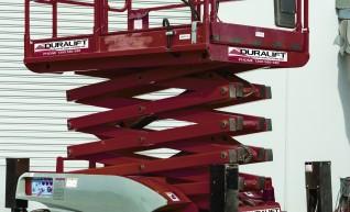 26ft diesel 4x4 All Terrain Scissor lift 1