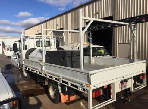 3 x 2016 4x4 Isuzu NPS 65-75 155 Tray Trucks 2