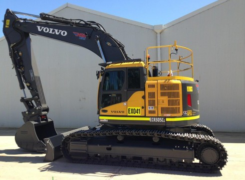 30T 2017 Volvo ECR305CL Excavator - Zero Swing 1